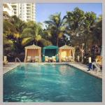 One of two pools at the Thompson Miami Beach.