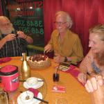At my 65th Birthday dinner.
