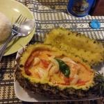 Ananas mit Shrimps