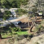 looking down on campground from trails above