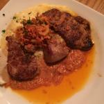 Pork tenderloin Romesco