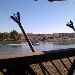 Vista do Rio Colorado do Deck restaurante