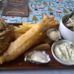 Seafood platter, great oysters, best whitebait ever