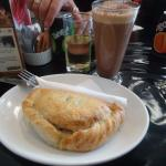 Delicious pasty with mocha
