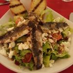 Grilled flying fish salad