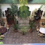 Courtyard at the riad