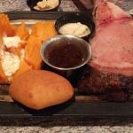 Prime rib & a big old sweet potato