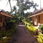 20 mètres des bungalows à la plage