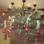 Decorations in the Cock N Bull for Christmas