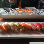 Fire Roll (top) & Rainbow Roll (bottom). Both were amazing!