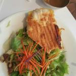 Jerk Chicken Panini at The Spanish Court Cafe!