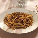 Pici with wild boar sauce