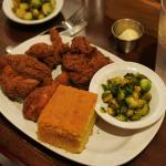 Outstanding fried chicken. The Brussels sprouts are great too.