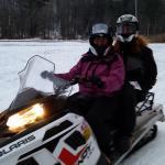 Snowmobiling at Killington, VT