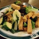 Vegetables and Tofu, House noodles,  Salt & pepper shrimp, salt & pepper pork chops, corn and ch