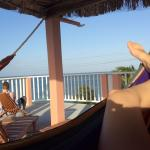 Hammocks on rooftop.