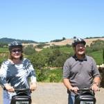 Cheers-2-Wine riding the segways in Healdsburg, CA