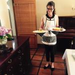 Mariaan cooks breakfast fresh when you order
