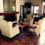 Reception area - antique furniture and lovely decor