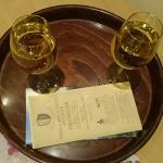 Glasses of local vine regaled for us