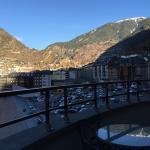 Vistas a las montañas de Andorra