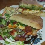 Amazing sandwiches accompanied with a very tasty salad
