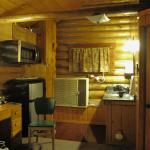 One room log cabin with kitchenette