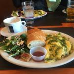 Omelette with asparagus breakfast