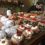 The array of donuts you can chose from (Large to mini)