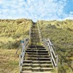 L'escalier pour aller a la plage