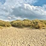 Le chemin pour revenir de la plage