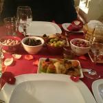 Abendessen im Kaminzimmer