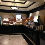 Breakfast area at HI Express, Durant OK