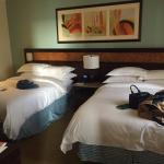 The 2 double bed room. Even though there were 2 beds, it was still super spacious!