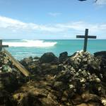 Surfer grave