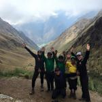 A picture with our porters and guide at the top of Dead Woman's Pass