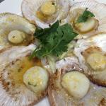 Delicious scallop entree