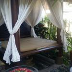 Just love the outside massage beds in a tranquil garden