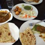 Naan and mutton curry