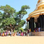 pelgrims at the ashram