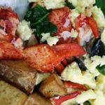 Lobster Scramble w/Spinach