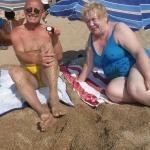 На пляже...