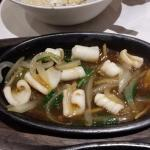 Sizzling Squid in Ginger