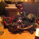 Lovely centerpieces at Christmas