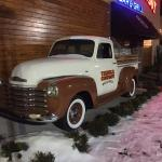 Classic Chevy truck greets bar-goers at main entrance.