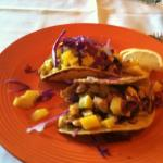 Jamaican-style tacos