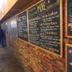 Wall full of menu items!