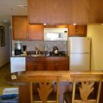 Kitchen area in the studio
