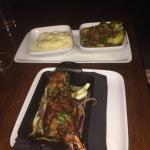 Marinated Young Lamb, pepperoni roasted Brussels sprouts, horseradish-pecorino mashed potato