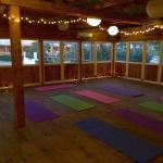 Our rustic yoga studio